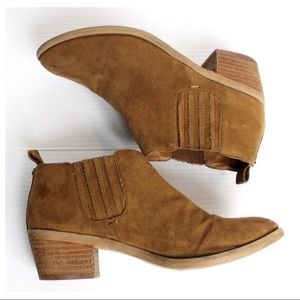 MELROSE AND MARKET Tan Jodie-Fab Ankle Booties